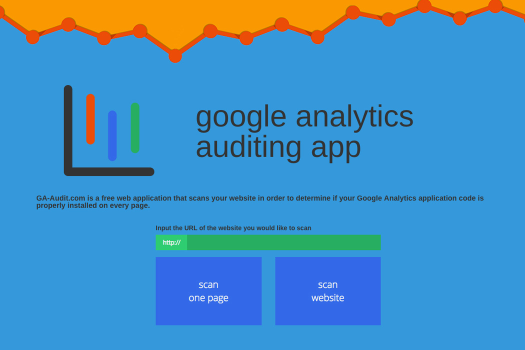 Google Analytics Auditing Website