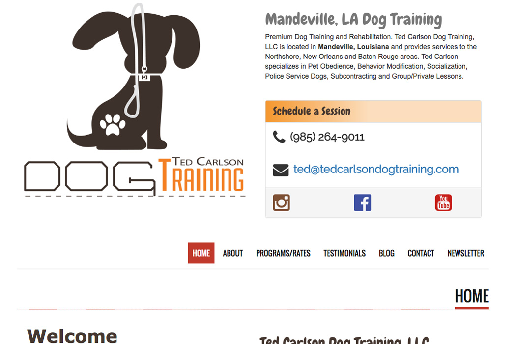 Ted Carlson Dog Training Website