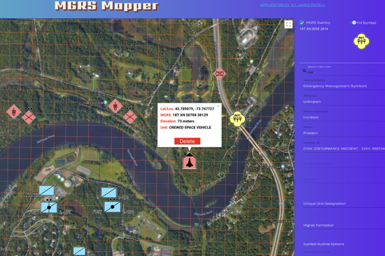 MGRS Mapper Application